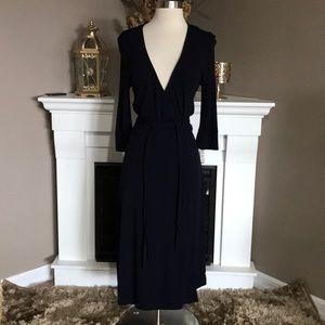 Index Navy Wrap Dress